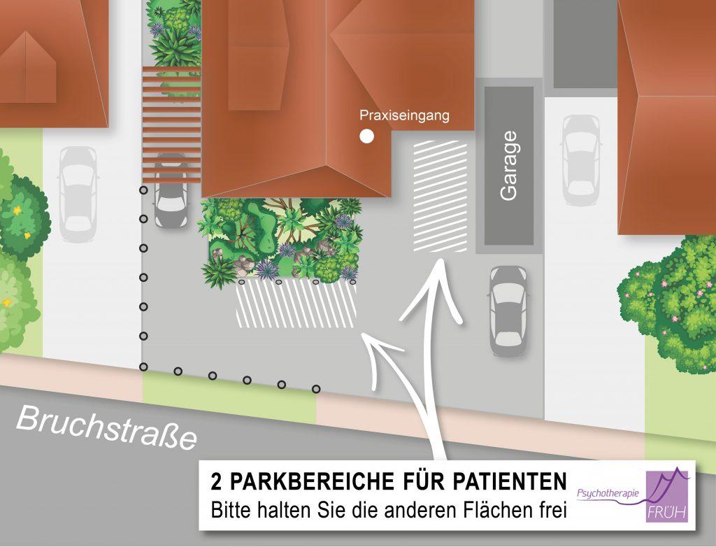 Parkplatz Psychotherapie Früh